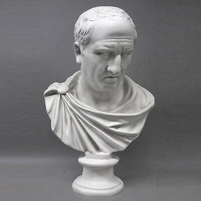 "Roman Orator Cicero Emperor bust 28"" Museum Sculpture Replica Reproduction"