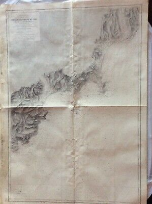 Vintage Nautical Chart Du Cap Drammont Au Var, 1897-1898