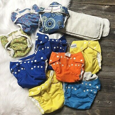 Cloth Diaper Lot Size Large (6  Fuzzi Bunz  3 Covers Bummis, Bumkins) MSRP $200+