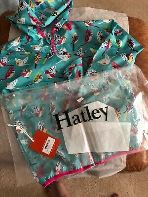 🌸  Hatley Bird Waterproof Rain Coat / Jacket 7 Yrs  🌸