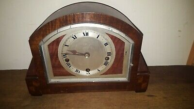 Bright And Sons Ltd Made in Scarborough mantle clock spares or repairs