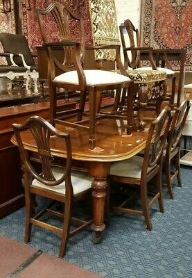 Early Victorian Large  Mahogany Dining Table & 6 Chairs  C1840 FOR A NURSES FUND