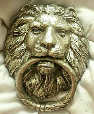 Quality Solid Large Silver Brass Bronze Lion's Head Door Knocker FOR NURSES FUND