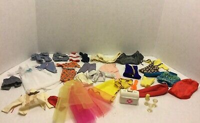 Lot Of Vintage Doll Barbie Clothing Outfits Dresses