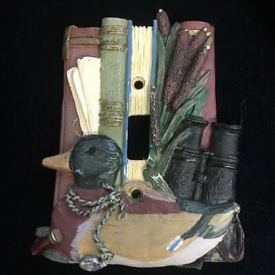 Vintage Wilderness Bound Switch Plate Cover Single Toggle Duck Books Cattails