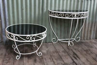 A Vintage Circular French Wrought Iron & Glass Table - Other in another Listing