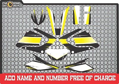 YAMAHA DTR 125RE FULL decal kit graphics DT125 X laminated  2004-2017 YELLOW
