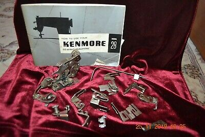 VINTAGE KENMORE HEAVY DUTY SEWING MACHINE MODEL 28 Booklet + attachments