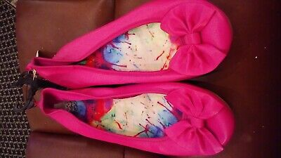 Faded Glory Youth Girls Pink Ballet Shoes Size 6