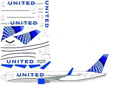 United new 2019 Boeing 767-300 airliner Decal 1:144 scale For Revell/Zvezda Kit