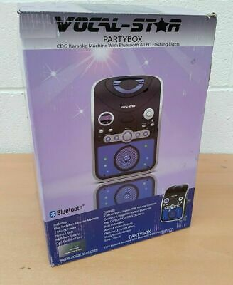 Vocal-Star PartyBox CDG CD Bluetooth Karaoke Machine With Led Light Effect