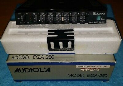 Vintage Audiola EQA-280 Equalizzatore Grafico 7 bande - New Old Stock