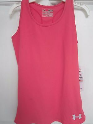 Under Armour Heat Gear Fitted Tank Top Youth Girls Medium - Brand New