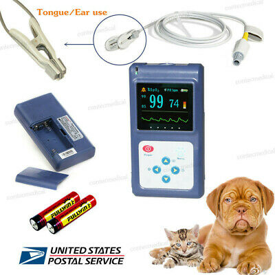 Animal Veterinary Pulse Oximeter SpO2 Blood Oxygen Heart Rate Monitor +VET probe