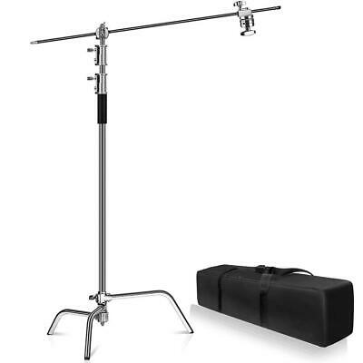 Metal 10ft Adjustable Reflector Stand with 4ft Holding Arm + 2 Grip Heads