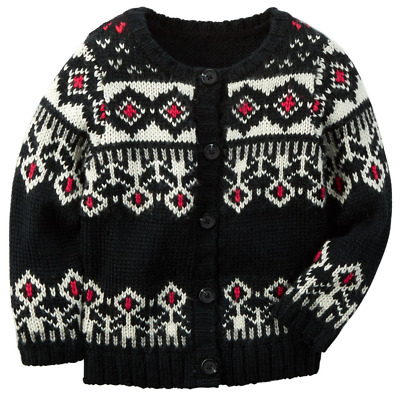 NWT $32 Carters Toddler Girl Graphic Cable Knit Sweaters  2T 3T 4T Fox Scottie