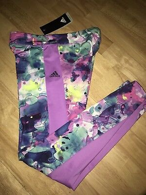 ADIDAS GIRLS' AOP TIGHTS BNWTS Choose Your Size