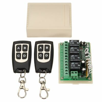 12V 4CH Channel 433Mhz Wireless Remote Control Switch Integrated Circuit With 2
