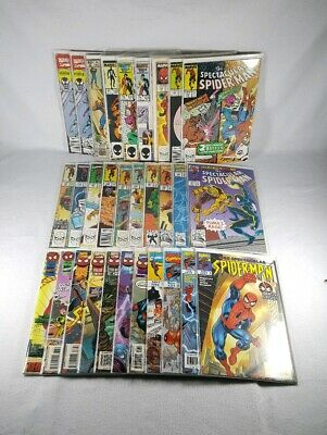 Marvel Comics Peter Parker The Spectacular Spider-Man Lot - 30 Mid To High Grade