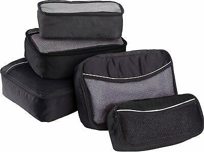 USA DEALS NOW 5PC Set Packing Cubes For Travel Luggage & Bag Organizer