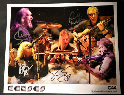 Authentic KANSAS AUTOGRAPHED 2013 VIP Photo HAND SIGNED by all 5 band members