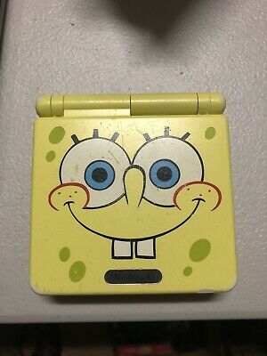 Nintendo GameBoy Advance GBA SP AGS-101 Spongebob System And Game Read