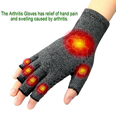 Magnetic Compression Wrist Support Arthritis Gloves Hand Palm Brace Pain Relief.