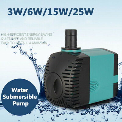 Water Pump Submersible Electric Ultra-Quiet Aquarium Fountain Pond Fish Tank 🔥