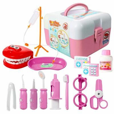 Doctor and Dentist Carrycase Playset 2in1 Children's Doctor & Nurse Pretend Play