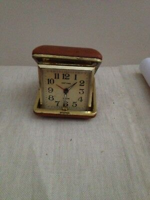 Vintage Estyma Travel Folding Alarm Clock