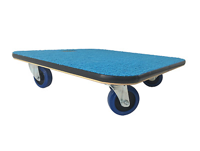 59x59 Carpet-Topped Furniture Skate Dolly Moving Trolley 600kg LC 10cm wheels