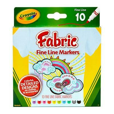 Crayola Fine Line Fabric Markers 10 Pack