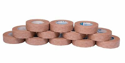 3M Micropore Surgical Tape, Hypoallergenic, Tan, 1.25cm x 9.1m, Pack of 12