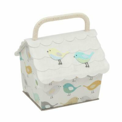HobbyGift Birdhouse Sewing Basket - Birds design storage