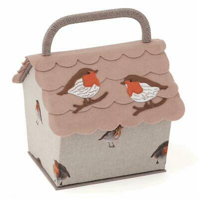 HobbyGift Birdhouse Sewing Basket - Robin design storage