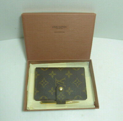 Authentic Vintage Louis Vuitton Malletier Paris Address/Phone/Wallet/Card Holder