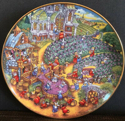 Franklin Mint BILL BELL Limited CAT Collector PLATE Perfect Harvest Thanksgiving