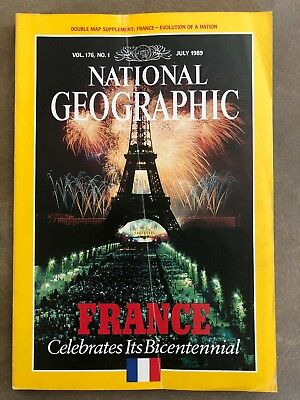 NATIONAL GEOGRAPHIC  July 1989,France Celebrates Its Bicentennial No Map