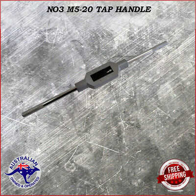 Adjustable Tap Handle T Type Reamer Wrench, Knurled Grip No3 M5 - M20  37.5 cm .