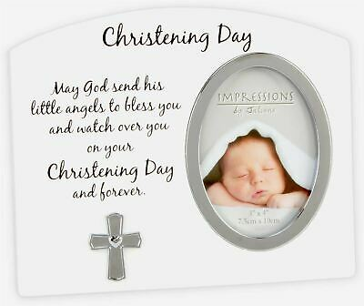 Widdop CHRISTENING DAY CROSS PHOTO FRAME Baby Gift Picture Frame BNIB