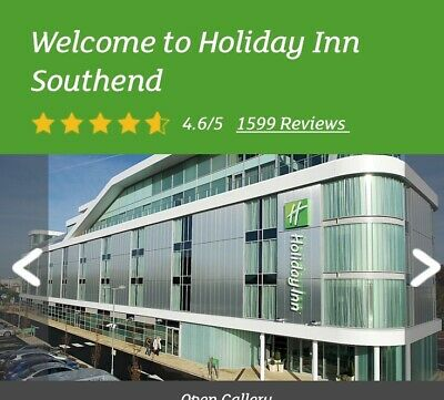 1 NIGHT STAY- HOLIDAY INN SOUTHEND ON SEA STANDARD ROOM FRIDAY 13TH December