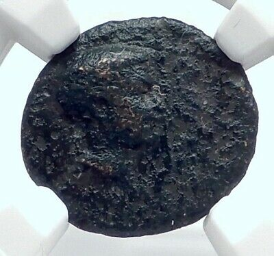 BRITANNICUS or NERO as Caesar Authentic Ancient 50AD Roman Coin NIKE NGC i81692