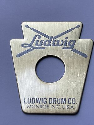 """Ludwig Keystone 60/'s Repro /"""" BRASS /"""" Drum Badge with 3ply brass grommet"""
