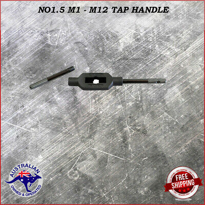 Adjustable Tap Handle T Type Reamer Wrench Knurled Grip No1.5 M1 - M12