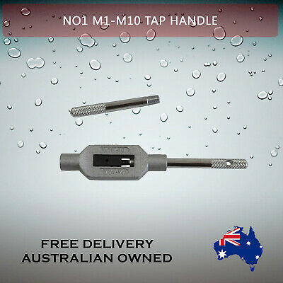 Adjustable Tap Handle T Type Reamer Wrench, Knurled Grip No1 M1 - M10