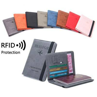 RFID Blocking Leather Travel US Passport Case Card ID Holder Wallet Cover Slim