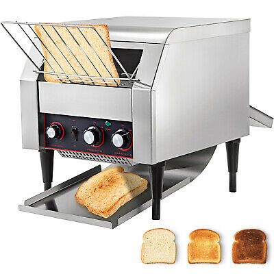 Commercial Electric Countertop Conveyor Toaster 450Pcs/H Stainless Steel