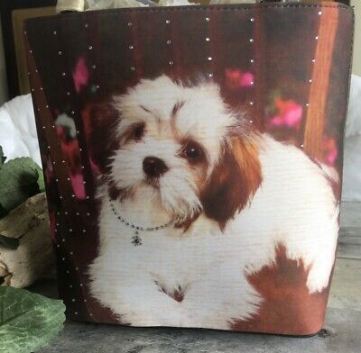 NWT vintage Lhasa Apso  bag with crystals