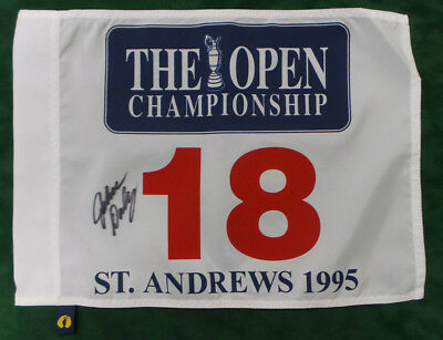 John DALY The Open St Andrews Golf Flag 1995 Signed Autograph AFTAL COA