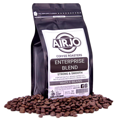AIRJO Coffee Roasters - Enterprise Blend - STRONG & SMOOTH - Whole Beans 1Kg